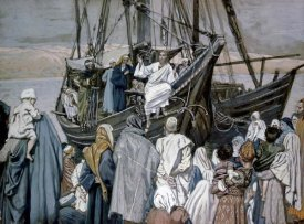 James Tissot - Jesus Preaching on a Boat
