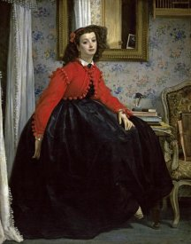 James Tissot - Young Woman in a Short Red Jacket