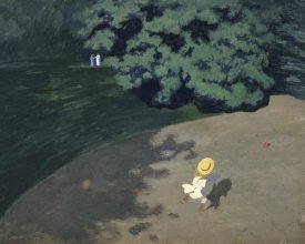 Felix Vallotton - The Ball (Corner of the Park, Child Playing With Ball)