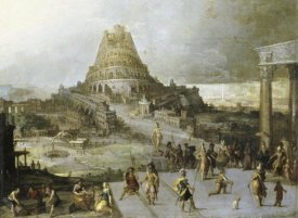 Hendrick Van Cleve III - Nimrod Ordering the Construction of the Tower of Babel