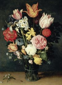 Balthasar Van der Ast - Tulips, Roses and other Flowers in a Glass