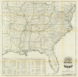 Asher and Company - The United States Historical War Map, 1862