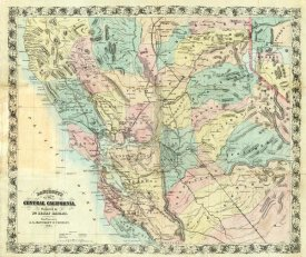 A.L. Bancroft - New Map of Central California, 1871