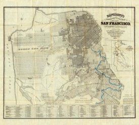 A.L. Bancroft - Official Guide Map of City and County of San Francisco, 1873