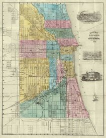 Rufus Blanchard - Guide Map of Chicago, 1869