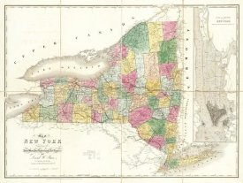 David H. Burr - Map of New York, 1839
