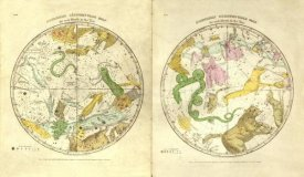 Elijah H. Burritt - Circumpolar Map for each Month of the Year, 1835