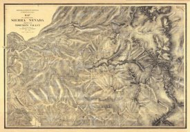 California Geological Survey - Sierra Nevada adjacent to the Yosemite Valley, 1869