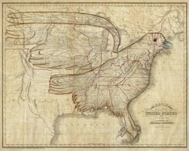 Joseph and James Churchman - Eagle Map of the United States, 1833