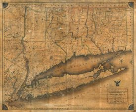 William Damerum - Map of the Southern part of the State of New York, 1815