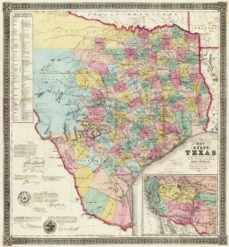 Jacob De Cordova - The State of Texas, 1856