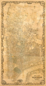 Matthew Dripps - City of New York Extending Northward to 50th St., 1852