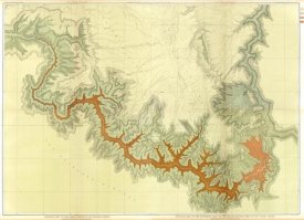 Clarence E. Dutton - Grand Canyon - Composite: Geologic map, S. pt. Kaibab Plateau. I-IV, 1882