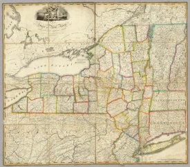 John H. Eddy - State of New York with part of the adjacent States, 1818