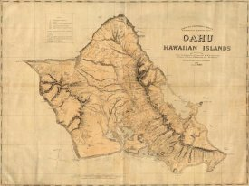 Hawaiian Government Survey - Oahu, Hawaiian Islands, 1881
