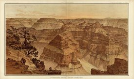 William Henry Holmes - Grand Canyon - Panorama from Point Sublime (Part I. Looking East), 1882