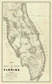 Washington Hood - Map of The Seat of War In Florida, 1838