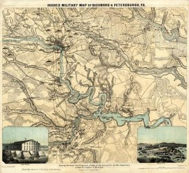W.C. Major Hughes - Hughes Military Map of Richmond & Petersburgh, Virginia, 1864