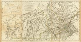 Thomas Jefferys - Map of Pennsylvania, 1776