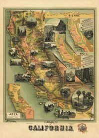E. McD. Johnstone - The Unique Map of California, 1885