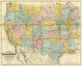 William J. Keeler - National Map of The Territory of The United States, 1868