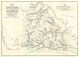 Otto H. Matz - Civil War Map of The Field of Shiloh, Near Pittsburgh Landing, Tennessee, 1862