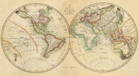 John Melish - Map of the World, 1820