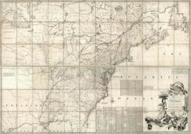 John Mitchell - Map of the British and French Dominions in North America, 1757