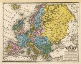 Samuel Augustus Mitchell - Map of Europe, 1839
