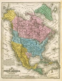 Samuel Augustus Mitchell - Map of North America, 1839