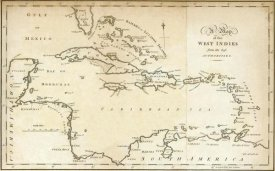 Jedidiah Morse - Map of the West Indies, 1794