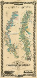 B.M. Norman - Chart of The Lower Mississippi River, 1858
