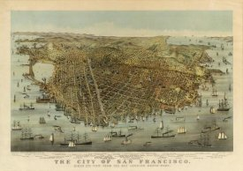 Charles R. Parsons - San Francisco Birds Eye View, 1878