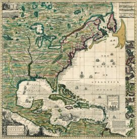 Henry Popple - America Septentrionalis A Map of the British Empire in America, 1733
