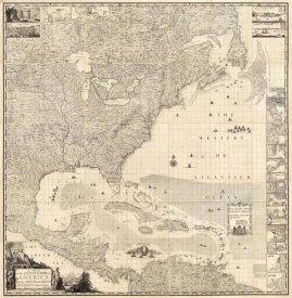Henry Popple - Composite: British Empire in America, 1733