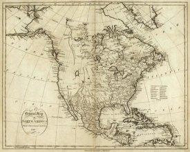 John Reid - Map of North America, 1796
