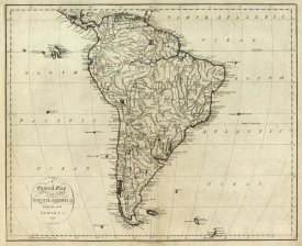 John Reid - Map of South America, 1796
