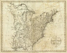 John Reid - Map of the United States of America, 1796