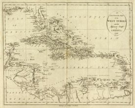 John Reid - Map of the West Indies, 1796