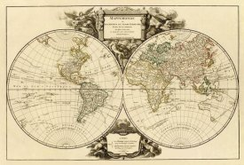 Didier Robert de Vaugondy - Mappemonde, 1752