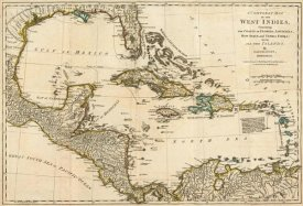 Robert Sayer - A Complete Map of the West Indies, 1776