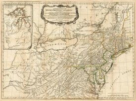 Robert Sayer - A General Map of the Middle British Colonies, in America, 1776