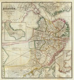 George G. Smith - Plan of Boston Comprising a Part of Charlestown and Cambridge, 1846