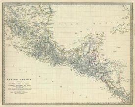 Society for the Diffusion of Useful Knowledge - Central America, S. Mexico, 1842