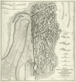 Charles Spangenberg - Civil War Map of The Siege of Vicksburg, Miss, 1863