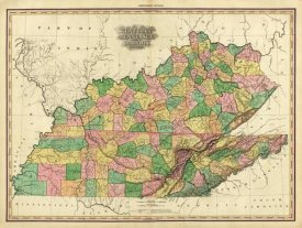 Henry S. Tanner - Kentucky, Tennessee and part of Illinois, 1823
