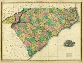 Henry S. Tanner - Map of North & South Carolina, 1823