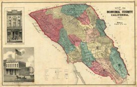 Thos. H. Thompson - Map of Sonoma County California, 1877