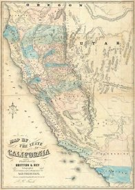 John B. Trask - Map of the State of California, 1853