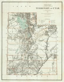 U.S. General Land Office - Territory of Utah, 1879